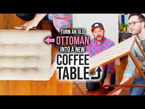Turn an Old Ottoman into a New Coffee Table! - HGTV Handmade