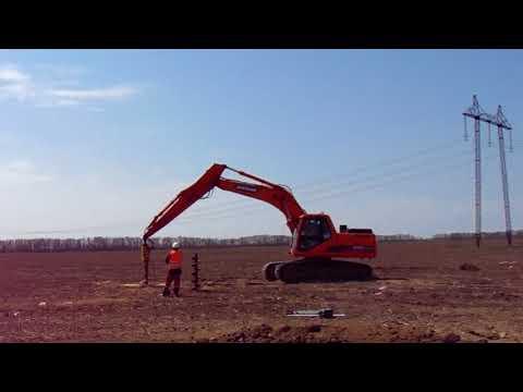 Прокладка электролинии на трассе Невинномысск-Моздок