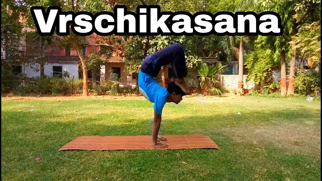 Hatha Yoga Scorpion Pose