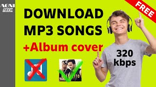How to download MP3 SONGS | No APP | HIGH QUALITY | with ALBUM ART