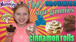 Yummy Nummies! Tiny Brownies, Cinnamon Rolls & Sour Gummies