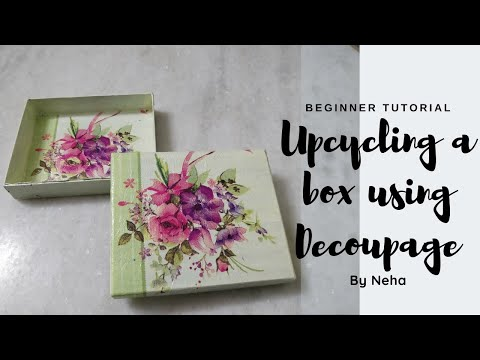 Decoupage chapter #5 | Upcycling | DIY tutorial | Kids Crafts | Beginner Tutorial