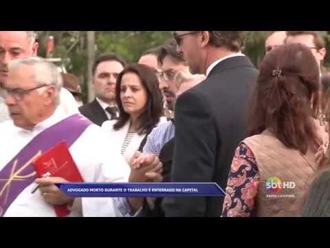 Corpo de advogado, morto durante o trabalho em Palhoça, é enterrado em Florianópolis