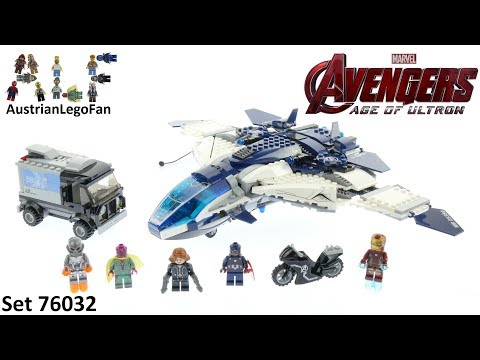 Lego Super Heroes 76032 The Avengers Quinjet City Chase - Lego Speed Build Review