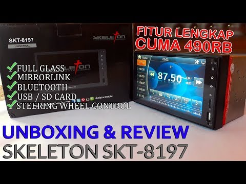 Unboxing And Review Head Unit Skeleton SKT 8197 Universal