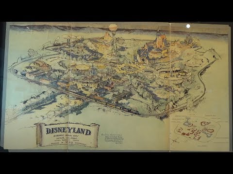Original Disneyland concept art map up for auction at Van Eaton Galleries in California