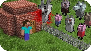 RETO DE LA BASE VS PEPPA PIG.EXE ¿NOOB SOBREVIVE? MINECRAFT TROLL + ROLEPLAY