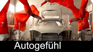 How Tesla cars are built: Model S assembly Fremont Factory production  - Autogefühl