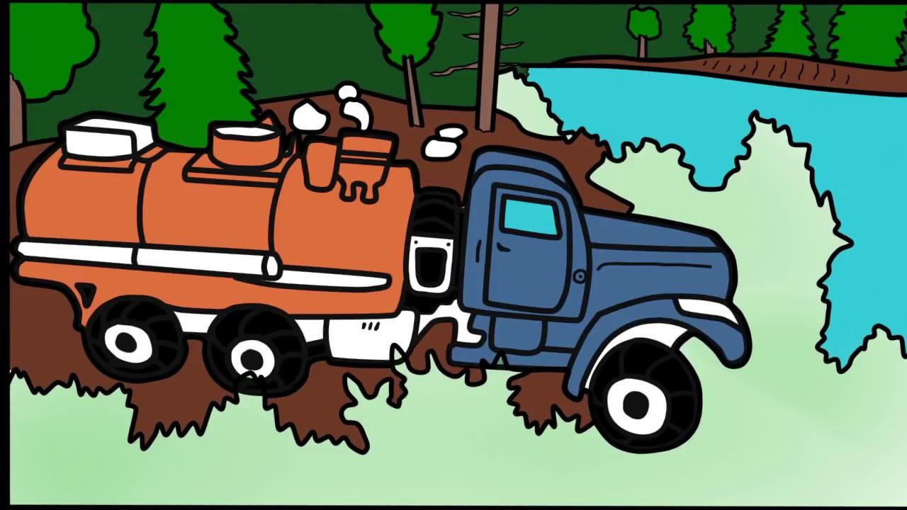 Раскраска-Машинки - Автоцистерна - видео для детей - YouTube