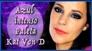 Tutorial maquillaje azul intenso Kat Von D   Silvia Quiros Makeup