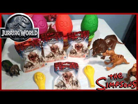 Epic Jurassic World Surprise Bags & Simpsons Play Doh Surprise Eggs