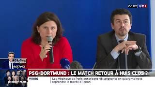 PSG-Dortmund : Le match retour à huis clos ?