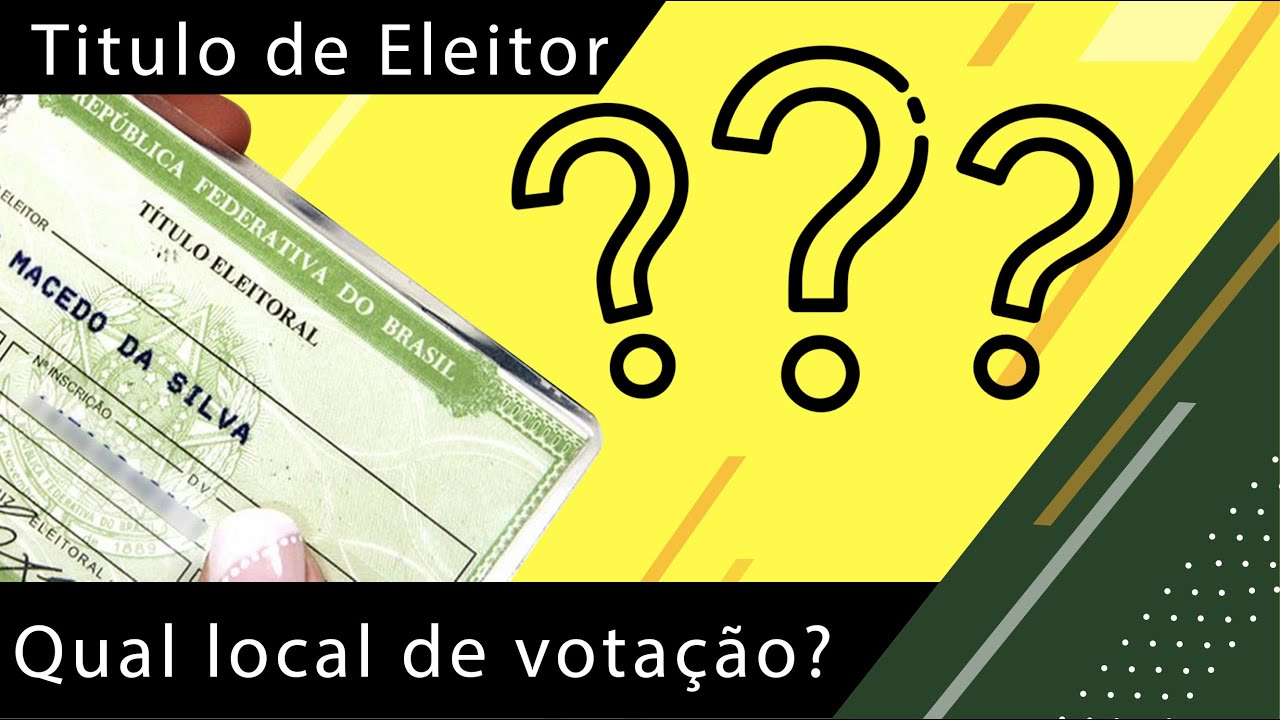 Como saber qual local de votação online