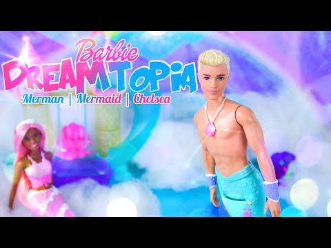 Unbox Daily: Barbie Dreamtopia - Merman | Mermaid | Chelsea and Playset