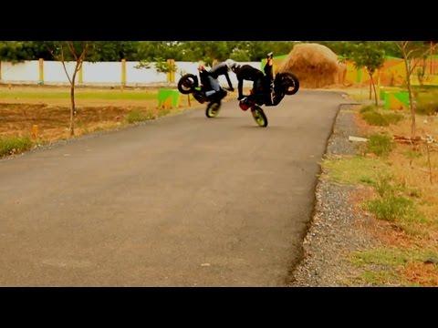 Bajaj Pulsar 200NS & Yamaha R15 Stunt Session