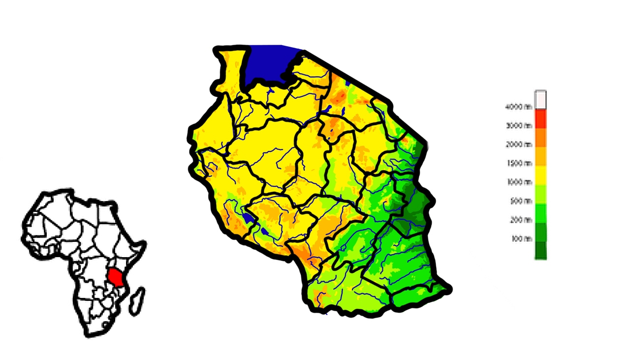 Creating Elevation Map of Tanzania