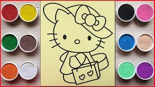 Colored Sand Painting Hello Kitty Shopping (Chim Xinh)