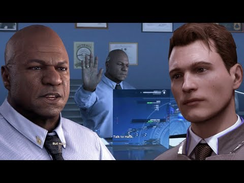 Detroit Become Human - Connor Tries To Talk To Captain Fowler