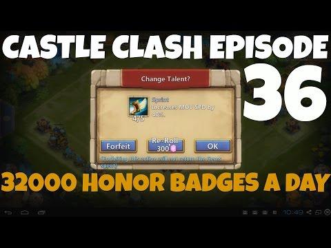 Castle Clash Episode 36: 32000 Honor Badges A Day