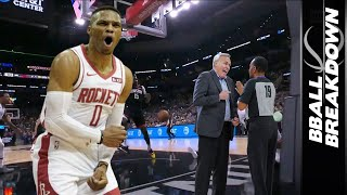 Rockets Spurs INSANE Ending: Refs or Russ...Who Blew It for Houston?!?