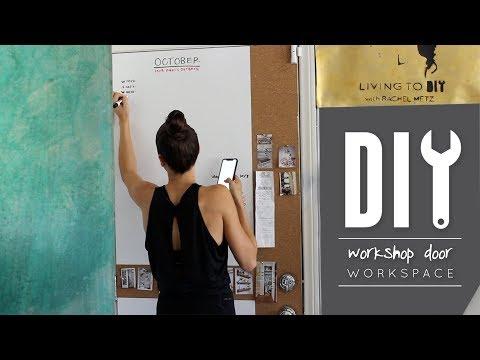 DIY Easy Chalkboard, Corkboard + Dry Erase Workshop Doors