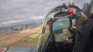 Onboard with Peter Teichman as he flies in Spitfire Balbo at Duxford 2018