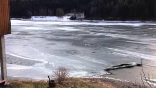 Lago delle Piazze Baselga Di Pinè neve e vento guardate li risultato
