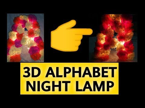 DIY Handmade Night Lamp|| Night Lamp with Paper Flower By Ray Collections