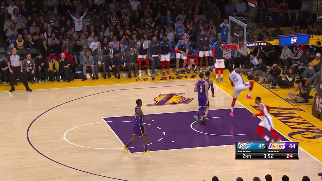 Russell Westbrook (Thumb) Active vs. Lakers