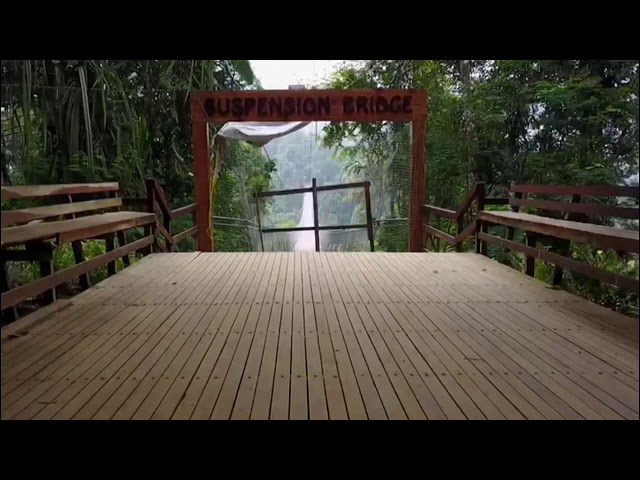 Situ Gunung Suspension Bridge  soundtrack by Coldplay -miracle