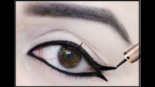 9 अलग आई लाइनर लुक | 9 different Eyeliner looks | Eyeliner look for beginners