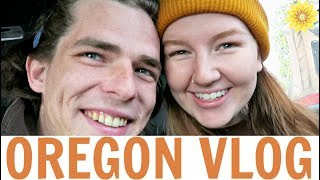 we got our car stuck in the snow went home   oregon vlog 4   meg fin