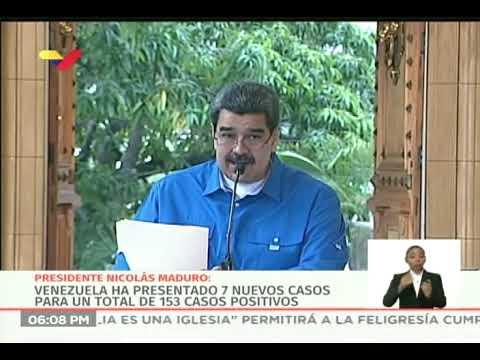 Reporte Coronavirus Venezuela, 03/04/2020: Presidente Maduro informa 7 nuevos casos y 2 fallecidos