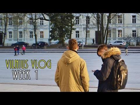 VILNIUS LITHUANIA ERASMUS VLOG - Week 1