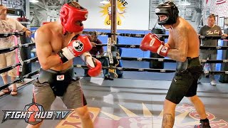 Jose Benavidez Jr. putting in hard sparring w/Sergey Lipinets ahead of July 23rd fight
