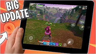 Fortnite Mobile Update - FIRE BUTTON GLITCH FIX - SHOPPING CART TIPS