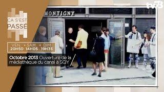 Ça s'est passé… ouverture de la médiathèque du canal à SQY en octobre 1993