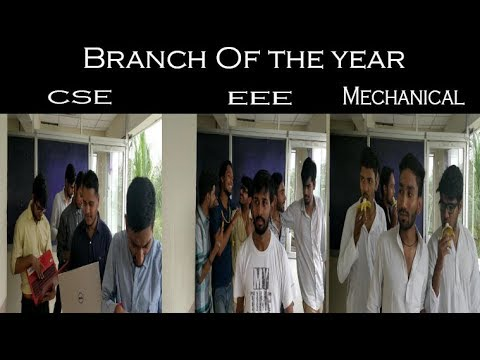 Branch of the year competition || CSE vs EEE vs MECHANICAL || The DrunkedDudes ||