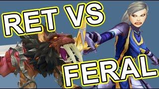 Feral Druid vs Retribution Paladin lvl 110 Legion Savix vs Phos