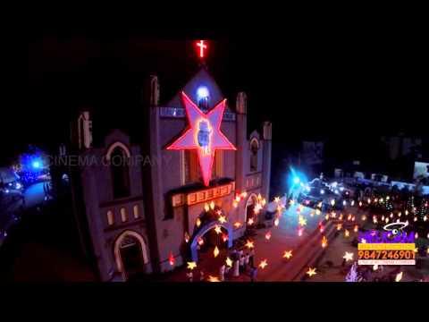 St. Antonys Church, Valiyathura,Trivandrum  Christmas   Helicam  HD