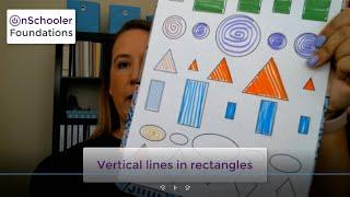 D4-Drawing vertical lines in rectangles (Handwriting stroke #4 for preschool or kindergarten)