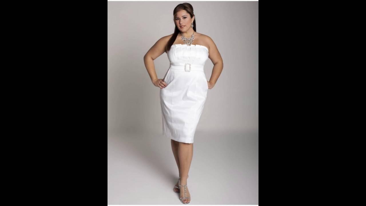 Vestidos Blancos Para Gorditas Youtube