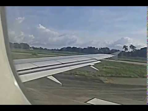 Air Cote d'Ivoire A320 Takes off at Lungi Int. Airport (FNA), Sierra Leone