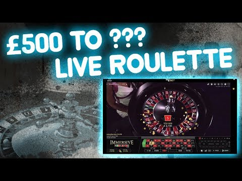 Live Roulette £500 to ???? Redemption??