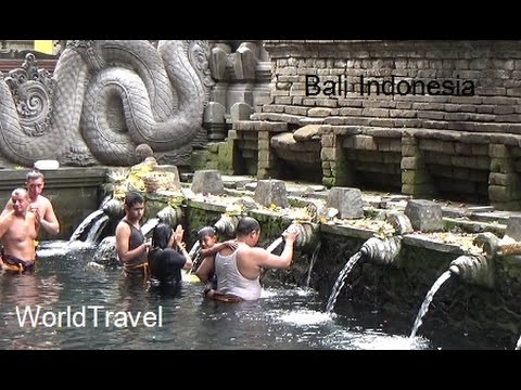 Visiting a very old Hindu temple(Pura Tirta Empul) on the island of Bali Indonesia.