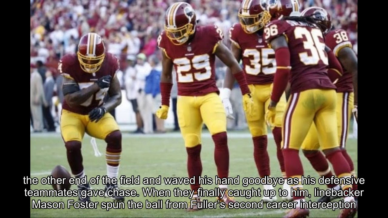 Redskins' 'Flight Marshals' celebrate game-ending interception with a pat-down ...