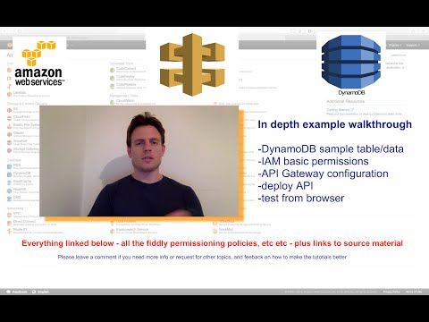 ep 1: How to use AWS API Gateway to expose AWS DynamoDB data