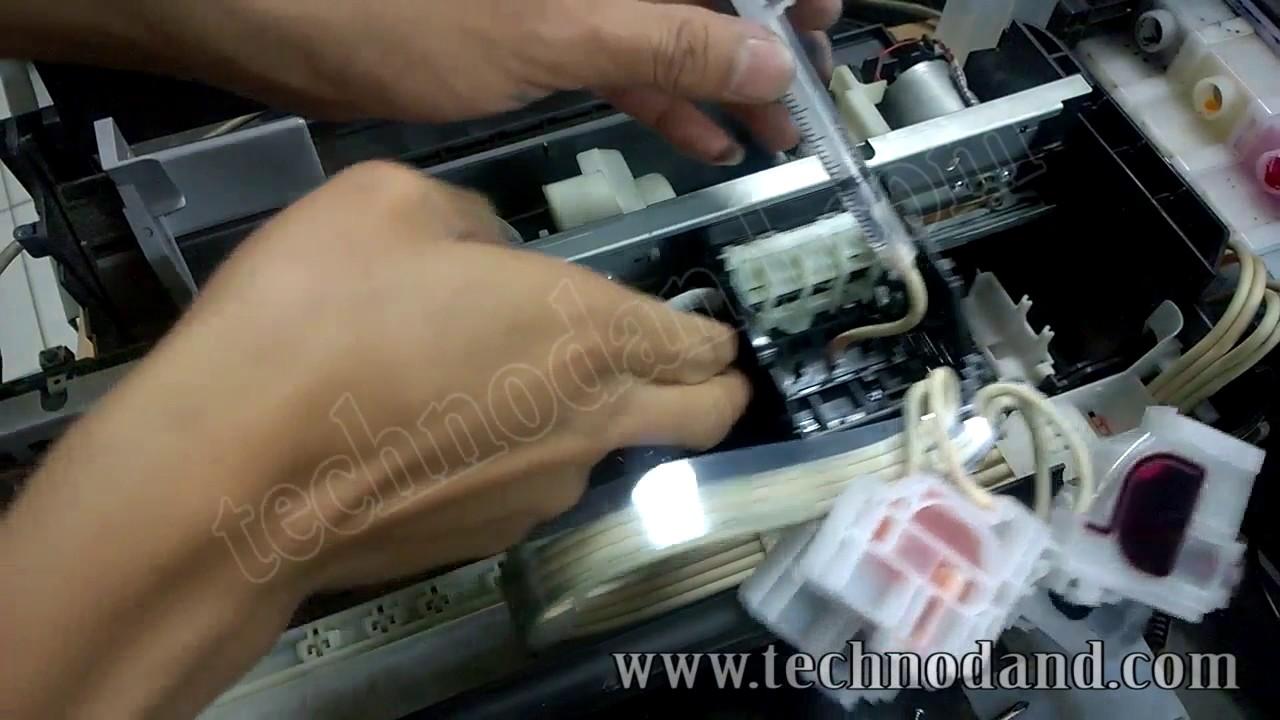 Memperbaiki Printer Epson L110 L210 L300 L310 Cetakan Cacat Atau