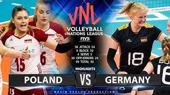 Poland vs. Germany | Highlights | Women's VNL 2019