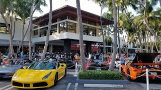 2018 Collectors Weekend  Super Car Show at Bal Harbour Shops / Miami Florida